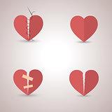 Icons heart, vector illustration.