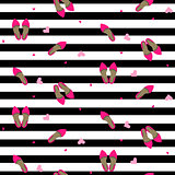 Chic girl fashion seamless pattern.