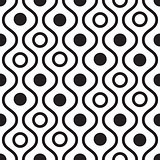 Geometric black and white minimalistic wavy pattern.