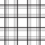 Geometric plaid line black and white minimalistic pattern.