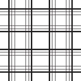 Geometric plaid line black and white minimalistic pattern.