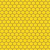 Honeycomb yellow seamless vector pattern.
