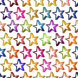 Seamless texture of abstract bright shiny colorful stars