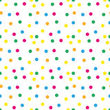 Festive confetti seamless pattern. Modern, geometric repeating texture. Memphis style endless background. Vector illustration.