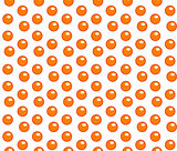 Red caviar seamless pattern. Roe endless background, texture, wallpaper. Vector illustration.