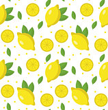 Lemon seamless pattern. Lemonade endless background, texture. Fruits . Vector illustration.