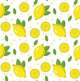 Lemon seamless pattern. Lemonade endless background, texture. Fruits . Vector illustration.