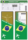 Plane ticket in business class flight to Brazil
