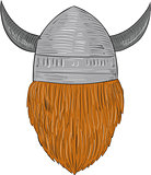 Viking Warrior Head Rear View Drawing