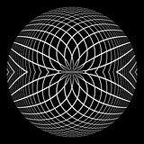 Abstract circle spherical design element.