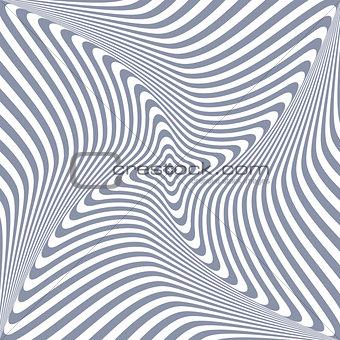 Torsion rotation 3D illusion.