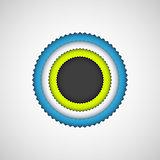 Black Bubble Badge