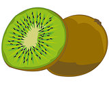 Tropical fruit kiwi