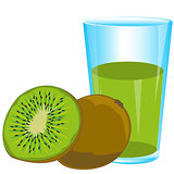 Fruits kiwi and juice