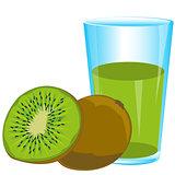 Fruits kiwi and juice