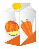 Box with juice