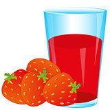 Berries strawberries and juice