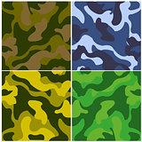 Sample fabrics camouflage