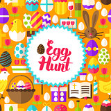 Flat Egg Hunt Postcard