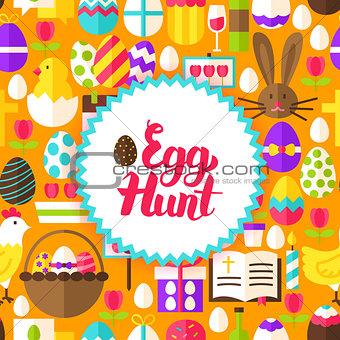 Flat Egg Hunt Postcard
