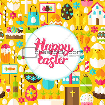 Flat Happy Easter Greeting