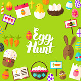 Egg Hunt Lettering Postcard