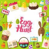 Egg Hunt Paper Concept