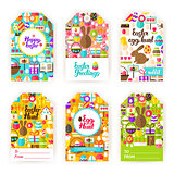 Happy Easter Gift Tag Labels