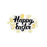 Happy Easter Gold Greeting Card