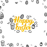 Happy Easter Gold Greeting Postcard