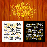 Happy Easter Lettering Postcards