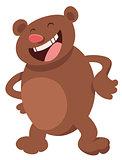 funny bear cartoon character