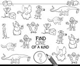 find one of a kind for coloring