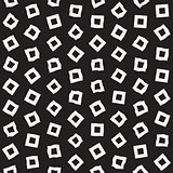 Stylish Doodle Scattered Shapes. Vector Seamless Black And White Freehand Pattern