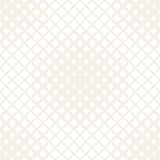 Repeating Rectangle Shape Halftone. Vector Seamless Monochrome Pattern