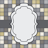 Mosaic frame place for text invitation