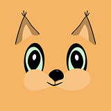 Squirrel head cute cartoon
