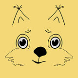 Squirrel cute head cartoon