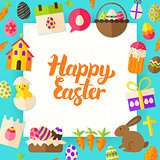 Happy Easter Paper Template