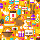 Orange Easter Seamless Pattern
