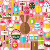 Pink Easter Seamless Pattern