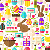 White Easter Seamless Pattern