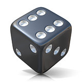 Black game dice