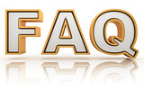 FAQ - frequently asked question abbreviation, golden letter sign