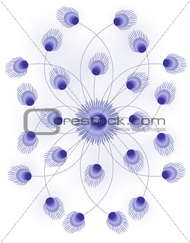 Abstract Floral Art Background Vector Illustration