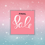 Abstract Designs Final Sale Banner Template with Frame. Vector Illustration