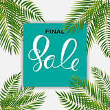 Abstract Designs Final Sale Banner Template with Frame. Vector I