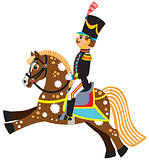 cartoon soldier on a horseback