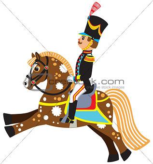 cartoon soldier on a horseback