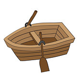 Doodle of Wooden Row Boat